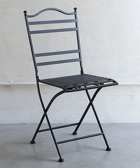sedia in ferro battuto nero: Amazon.it: Giardino e giardinaggio