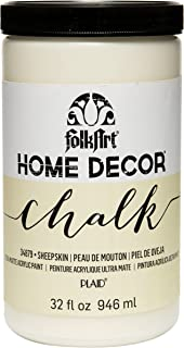 product image for FolkArt Home Decor Chalk Furniture & Craft Paint in Assorted Colors, 32 ounce, Sheepskin