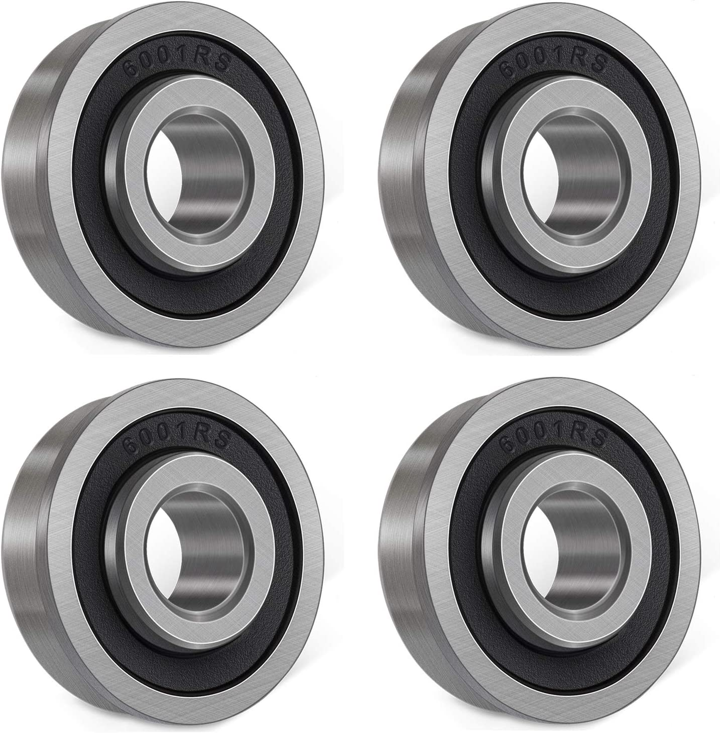 1//2 x 1-1//8 x 1//2 inch Double Seal Wheelbarrows Bonbo 4 Pcs Ball Bearings Carts and Hand Trucks Wheel Hub Deep Groove Ball Bearings for Lawn Mower
