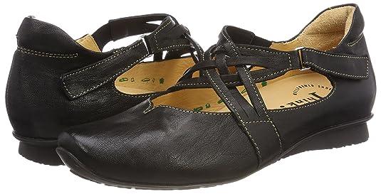 Womens Chilli_888108 Ankle Strap Ballet Flats, Black (Sz/k794 02), 6.5-7 UK Think