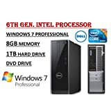 Dell Inspiron 3650 High Performance Desktop PC, Intel Core i3-6100 Processor 3.70 GHz, 8GB RAM, 1TB 7200RPM HDD, DVD…