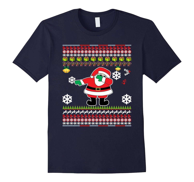 Dabbing Santa Funny Christmas Gift T-Shirt-TD