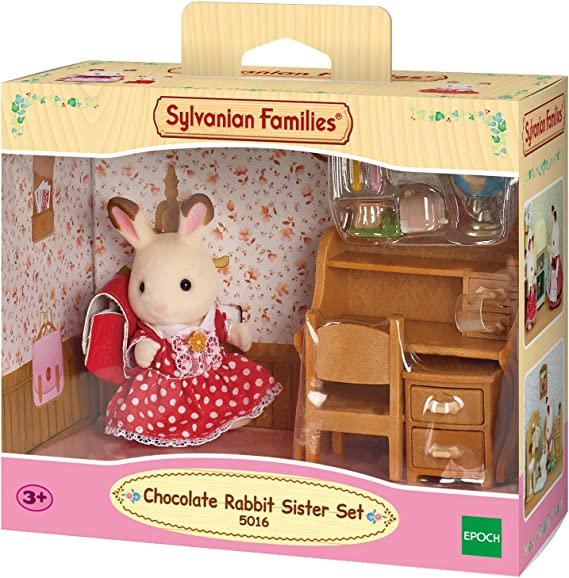 5015 Multicolore SYLVANIAN FAMILIES Rabbit Brother Set Fr/ère Lapin Chocolat//Toilettes