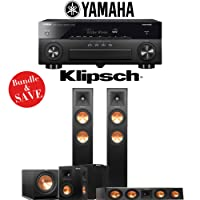 Klipsch RP-250F 5.1-Ch Reference Premiere Home Theater System with Yamaha AVENTAGE RX-A870BL 7.2-Channel Network AV Receiver
