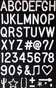 "2"" Letters and Characters for Changeable Letter Boards 