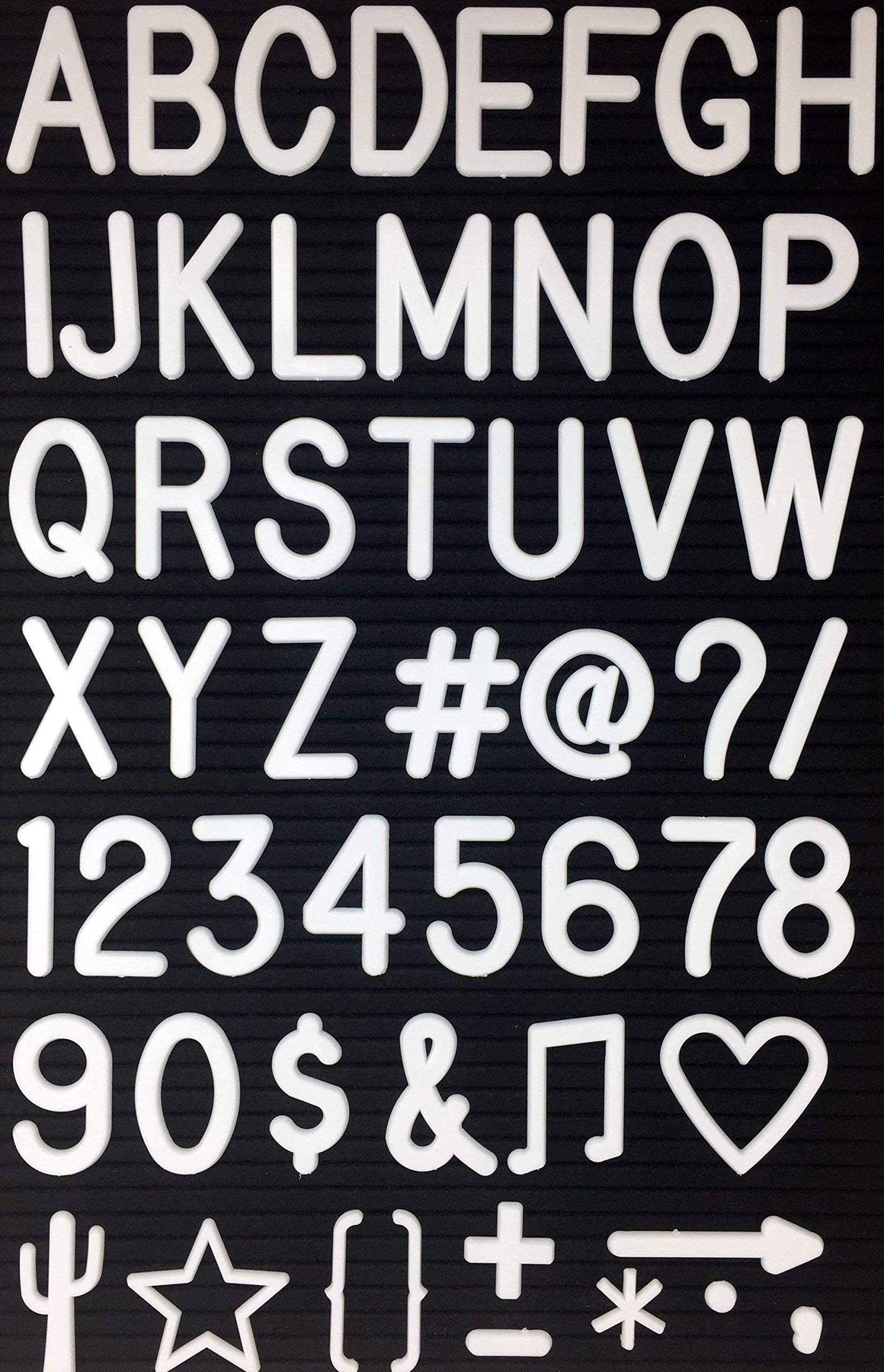 2'' Letters and Characters for Changeable Letter Boards | 186 Characters & Symbols | Includes @ # $ & ♪ and Many More | Bonus Canvas Drawstring Pouch (2'' Letter Set & Bag ONLY) by Word Notions