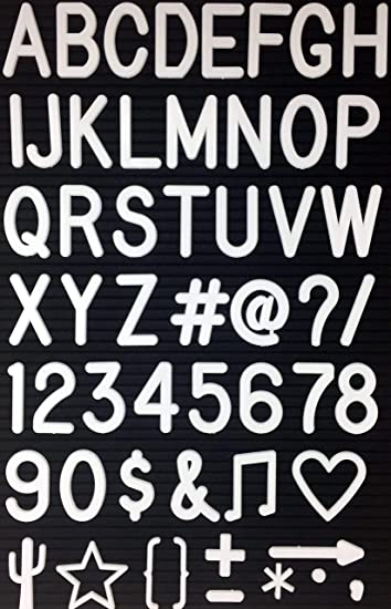 Amazon 2 Letters And Characters For Changeable Letter Boards