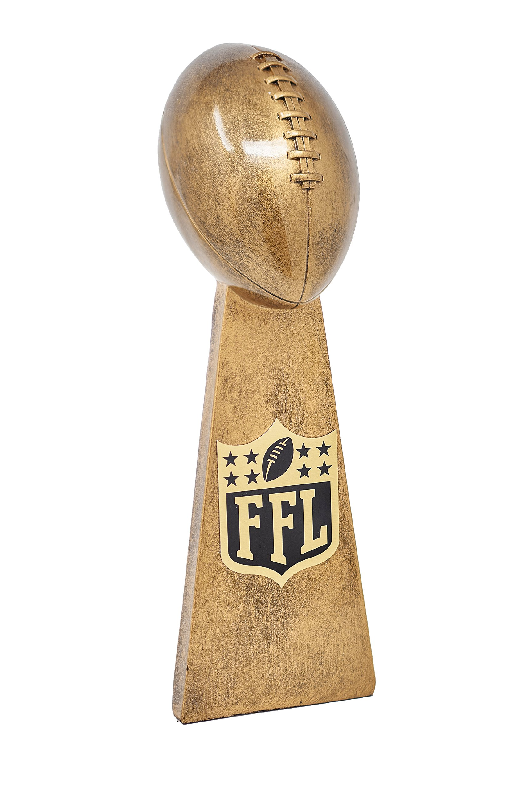 Fantasy Bros Ultimate Fantasy Football Trophy By Fantasy League Winner's Cup Lombardi Trophy Elegant & Durable Design | Gold/Silver(Gold, 14.5 Inch) by Fantasy Bros