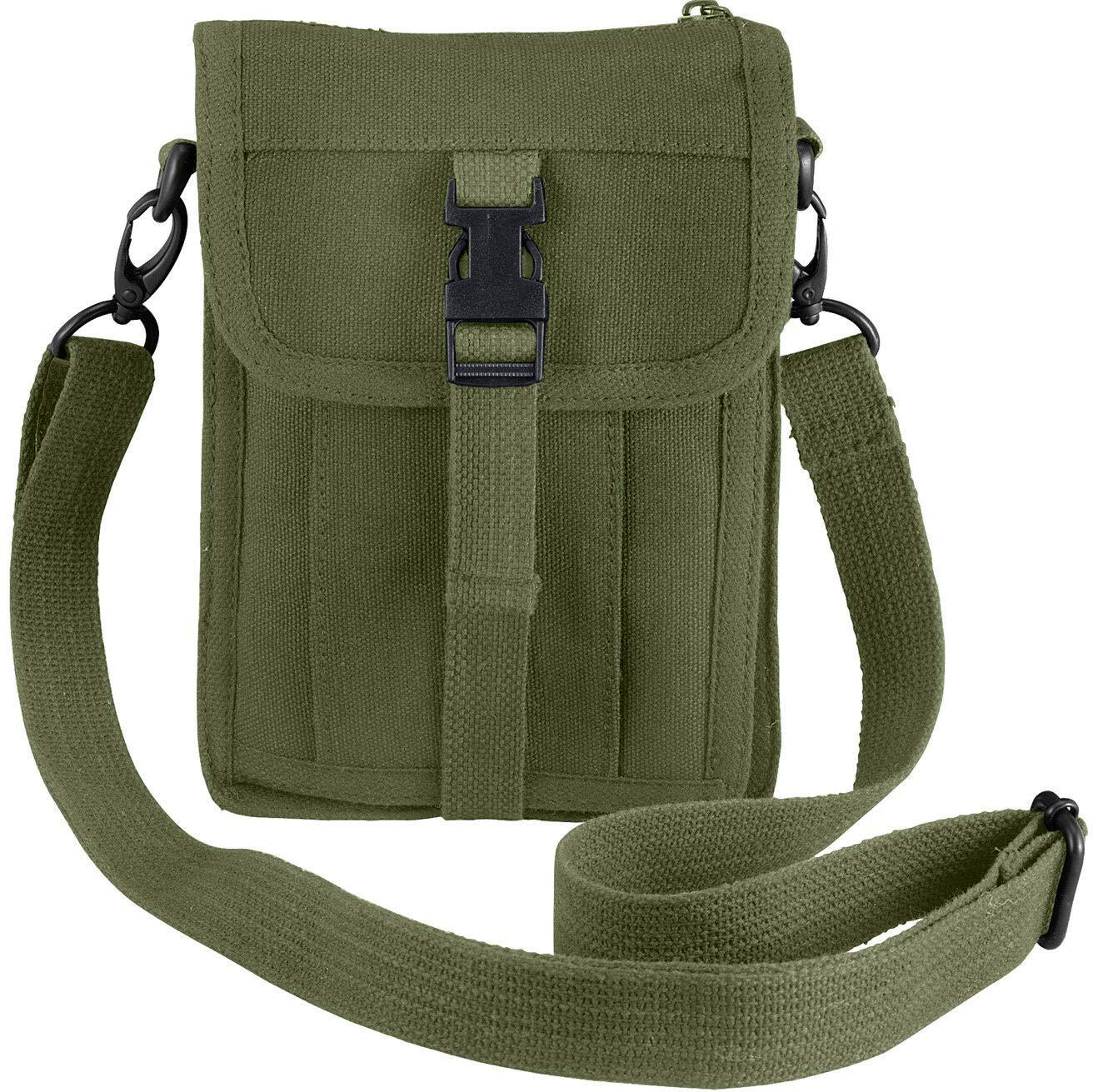 Brown Shoulder Bag Travel Organizer Pouch Canvas Passport Holder Wallet Case Portfolio Shoulder Bag Travel Accessories