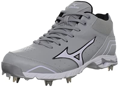 Mizuno Men's Mizuno 9-Spike Advanced Classic 7 Baseball Shoe,Grey/White,