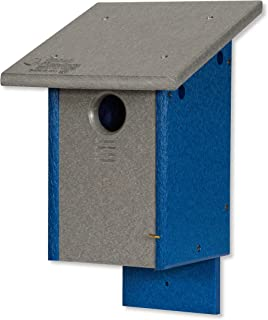 product image for DutchCrafters Classic Bluebird Poly Bird House - Post Mount (Gray & Blue)