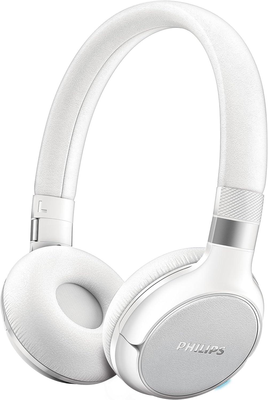 Philips SHB9350WT / 00 Auriculares Bluetooth con NFC multipar 4.0 BassBoost, Control táctil y 16h de autonomía Blanca