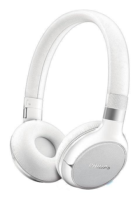 Philips SHB9350WT / 00 Auriculares Bluetooth con NFC multipar 4.0 BassBoost, Control táctil y 16h