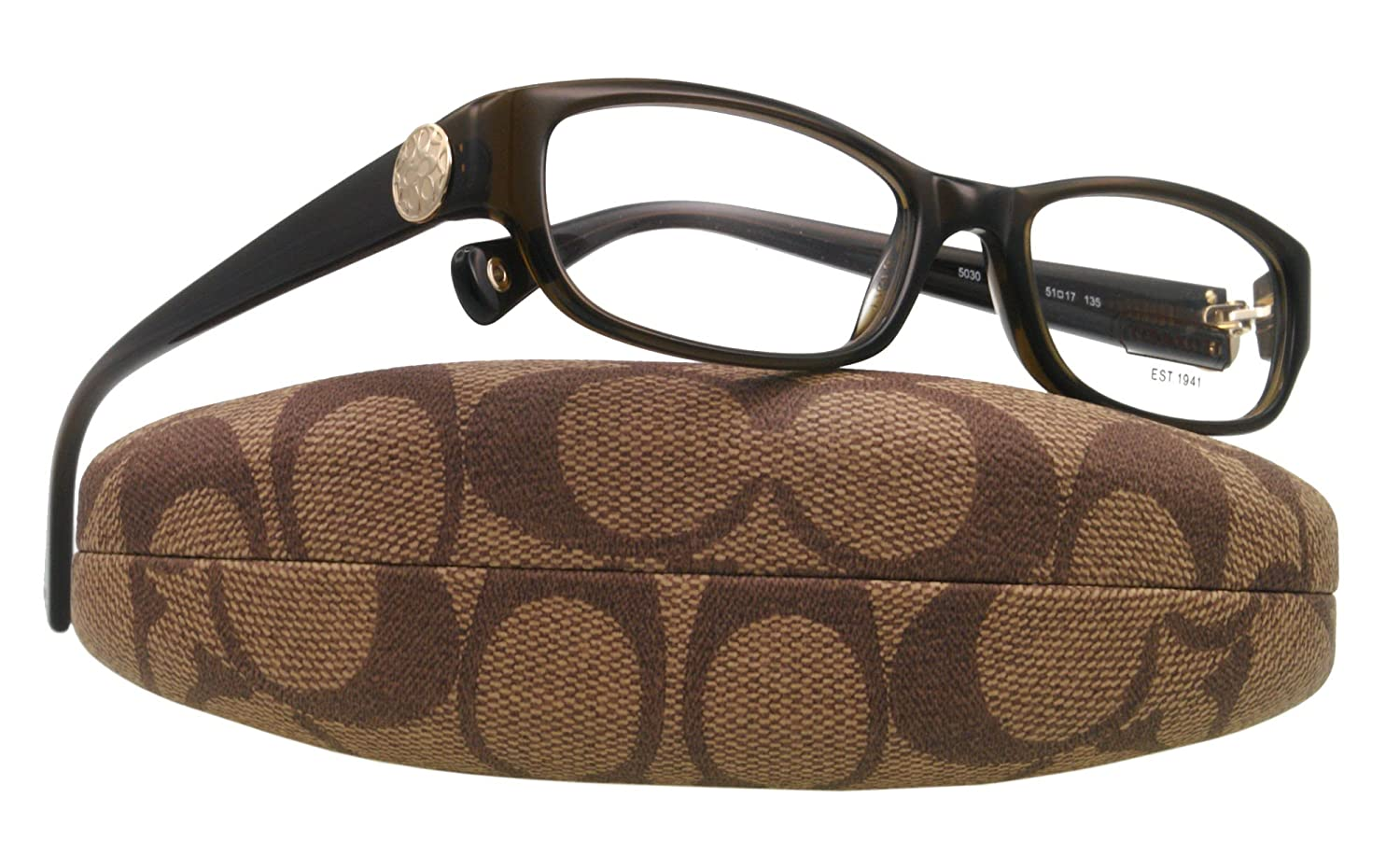 8d0727e797 Coach Eyeglasses HC 6008 5030 BROWN CADYN 53MM  Amazon.co.uk  Clothing