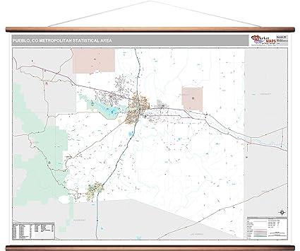 Amazon.com: MarketMAPS Pueblo, CO Metro Area Wall Map - 2018 - ZIP ...
