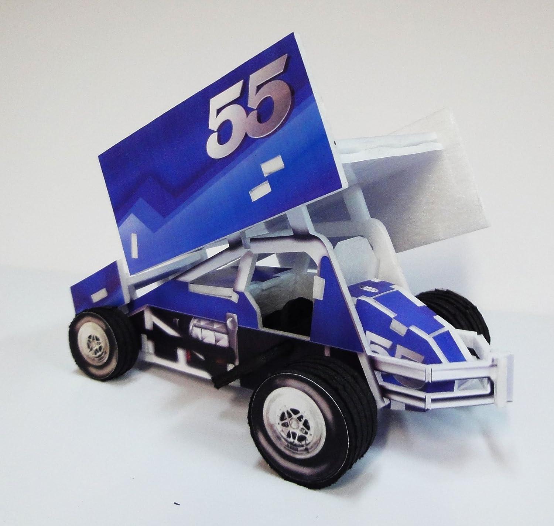 amazon com 3d sprint car puzzle blue toys u0026 games