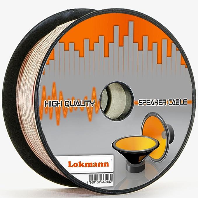 Lokmann 25 Meter 2 X 4 0 Mm Lautsprecherkabel Cca Kupfer Transparent Pvc Dielektrikum Speaker Hifi Boxen Cable 25m 2x4mm Küche Haushalt