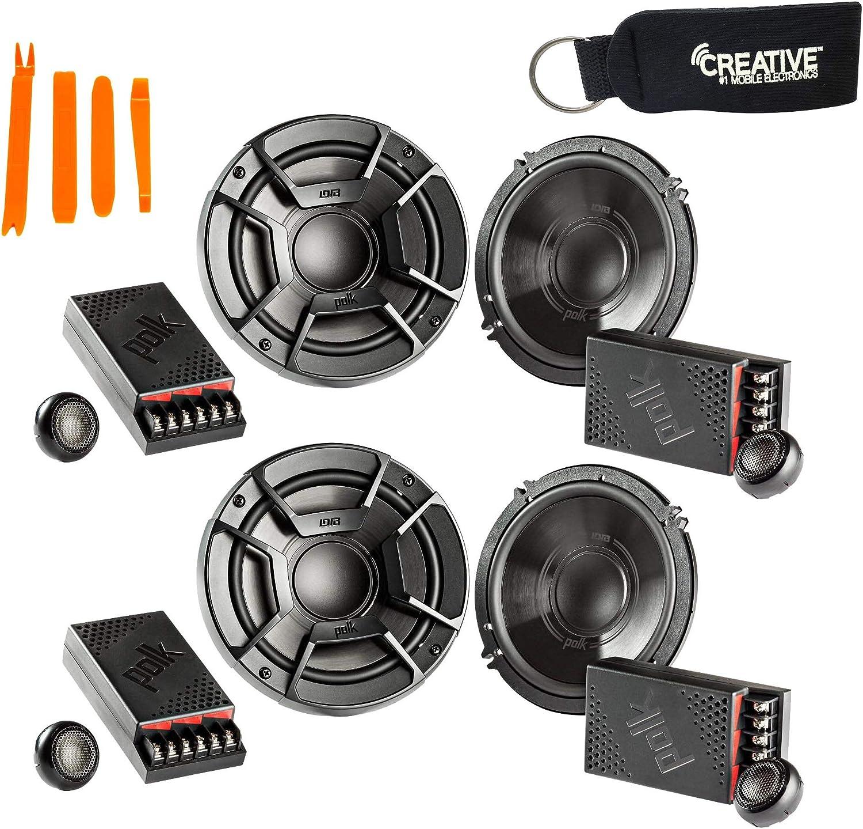 Polk Audio DB6502 6.5 600w Component Car//ATV//Motorcycle Speakers+Free Speaker !