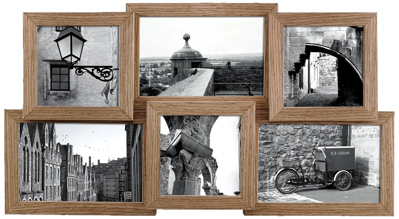 Amazon.de: Zep S.r.l WX25 Mehrfach-Bilderrahmen Basel, für 6 Fotos, Holz