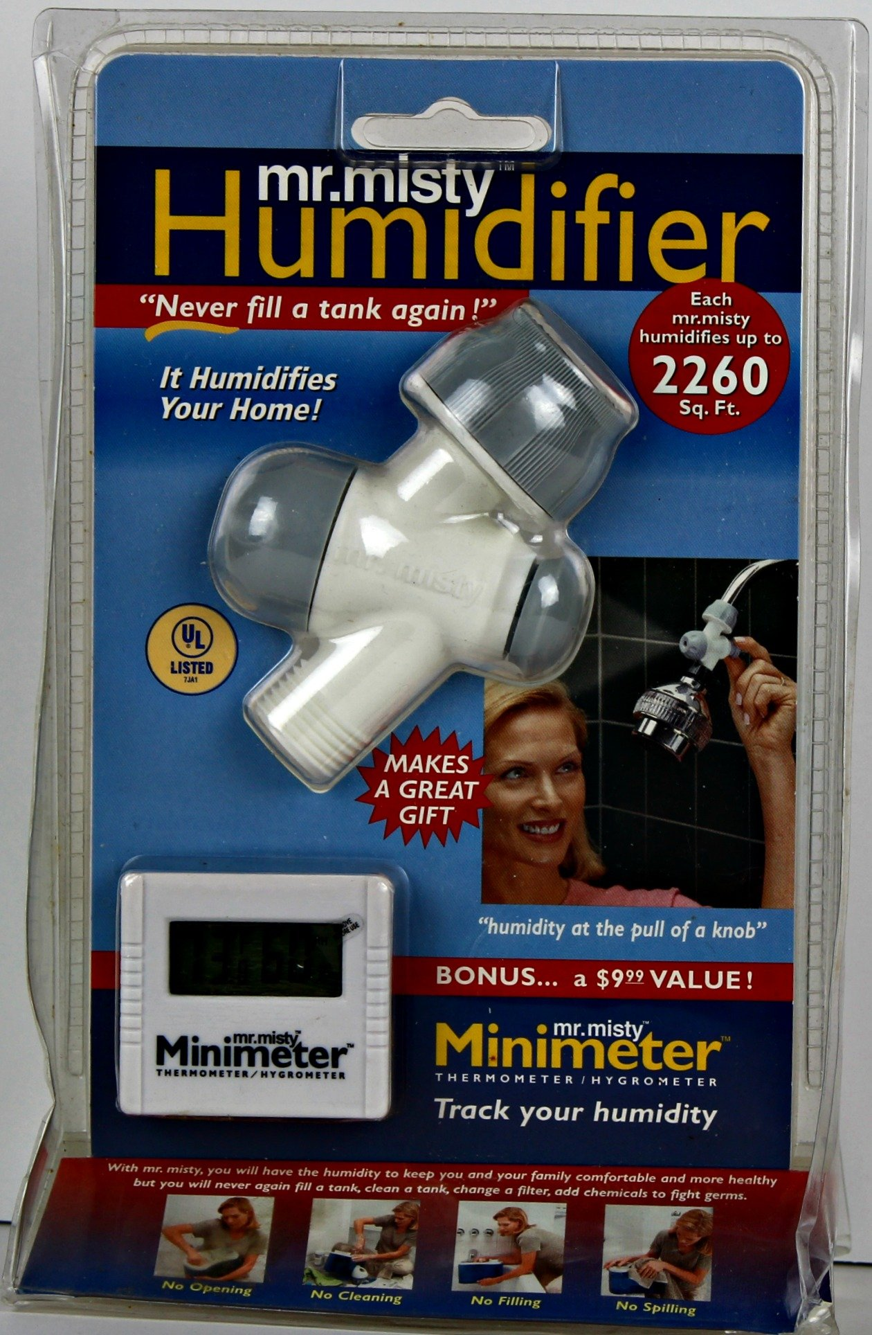 Mr. Misty Tankless Humidifier Shower Attachment