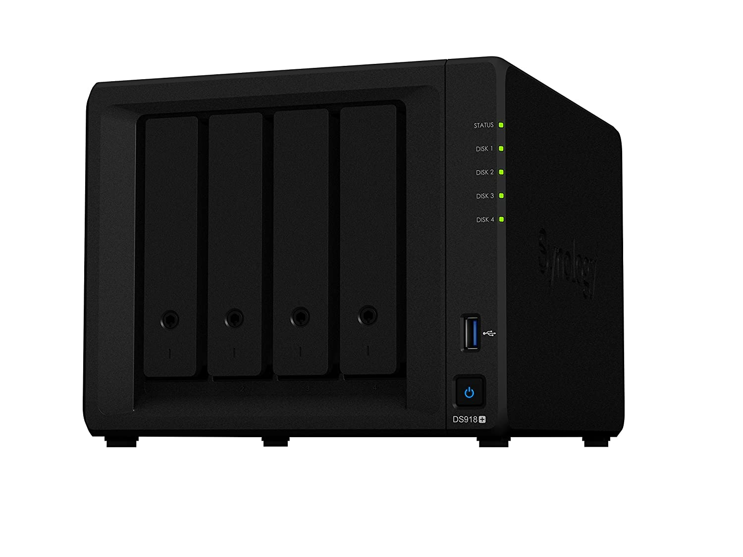 Synology DS918+ 40TB 4 Bay NAS Solució n | Instalado con 4 x 10TB Seagate IrownWolf Drives DS918+/40TB-IW