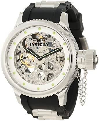 Amazon.com: Invicta Mens 1242 Russian Diver Quinotaur Mechanical Silver Skeleton Dial Watch: Invicta: Watches