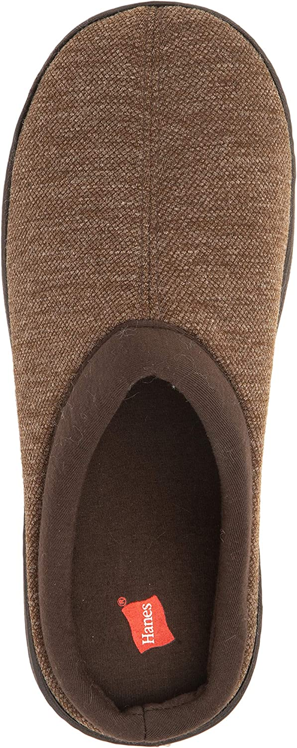 Hanes Mens Memory Foam Indoor Outdoor Clog Slipper Shoe with Fresh IQ