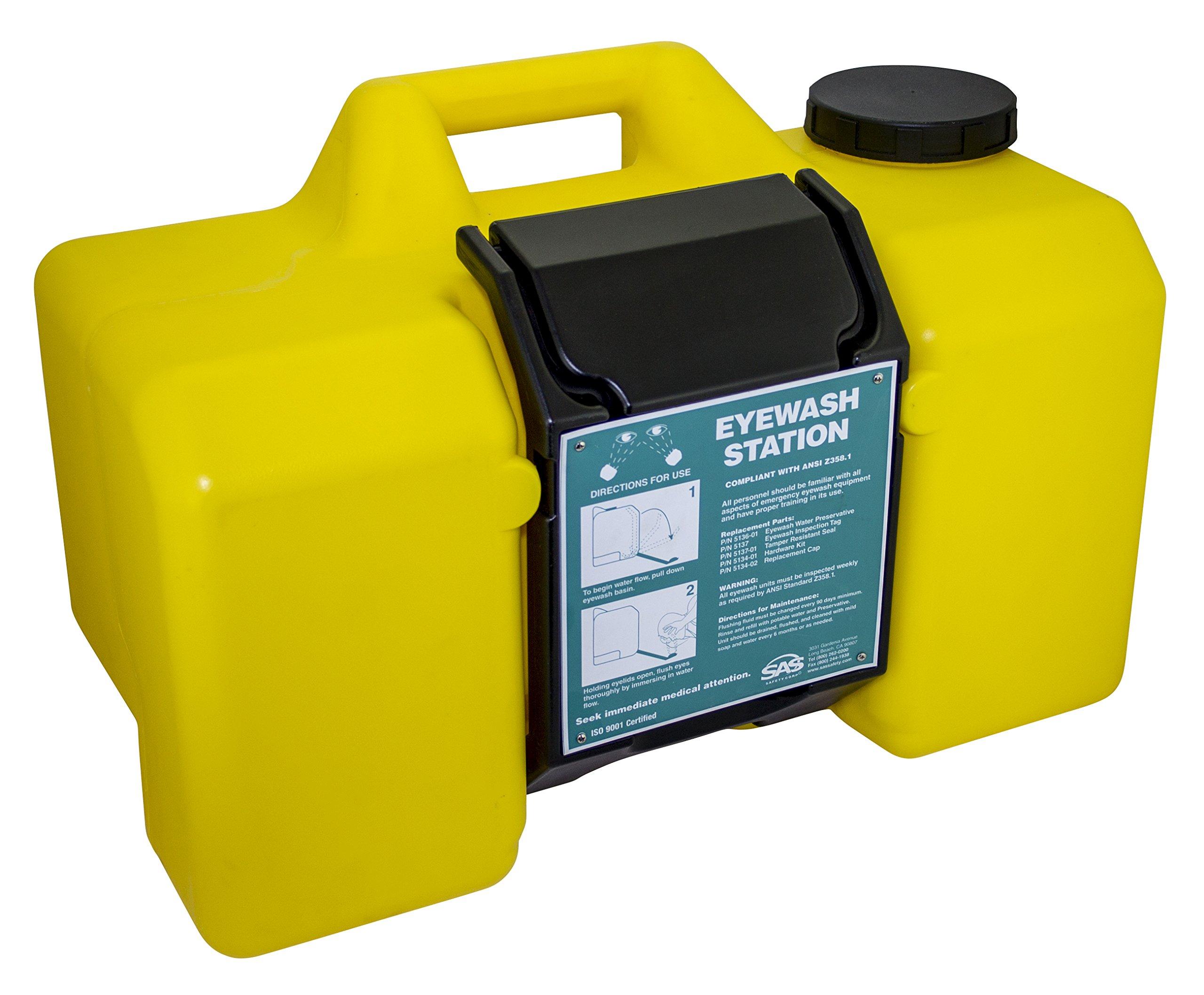 SAS Safety 5134-00 Emergency Eyewash Station 9 gallon