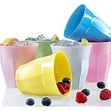 Francois et Mimi Set of 6 Melamine Kids Cups Tumblers (10oz)