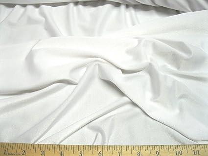 Discount Fabric Lycra /Spandex 4 Way Stretch White Matt Finish LY710