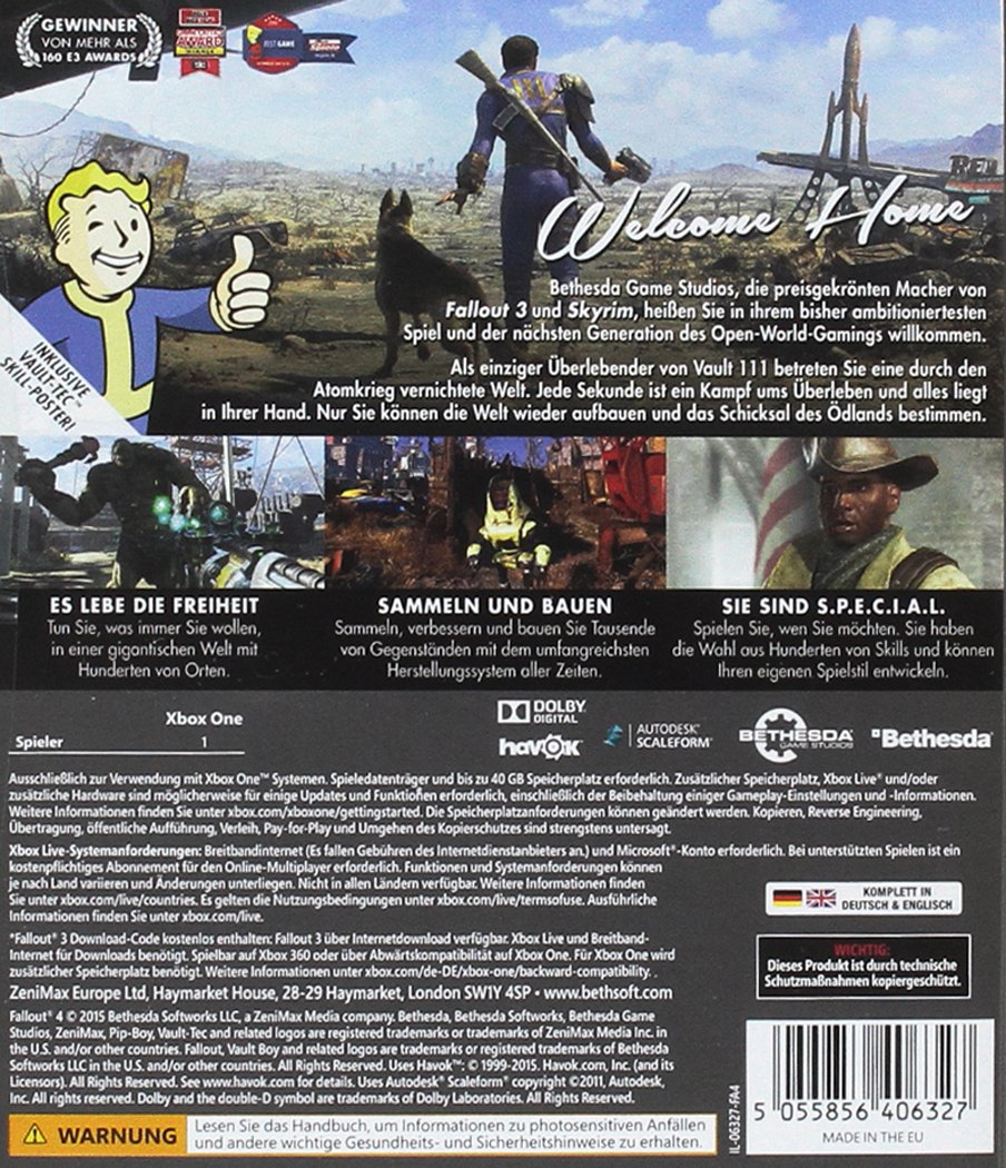 Fallout 4 Uncut Xbox One Amazonde Games