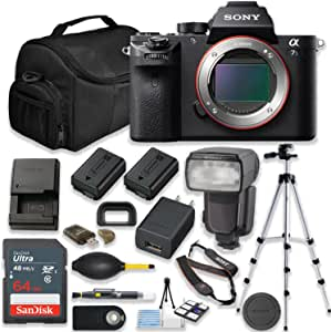 Sony Alpha a7S II 12.2MP Mirrorless Full Frame Digital Camera (Body Only) with 64GB Memory Professional Accessory Kit