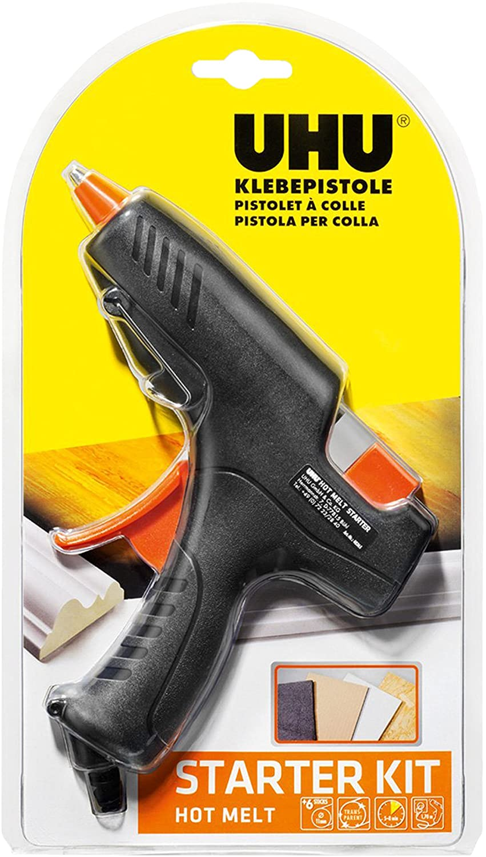 UHU Klebepistole Hot Melt Starter Kit + 200 g extra Klebepatronen