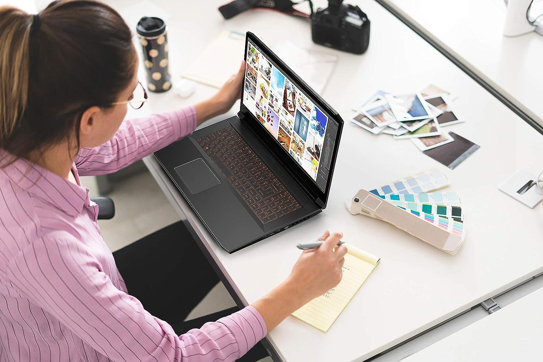 Frau an Laptop Notebook PC Kreativ Farben Design
