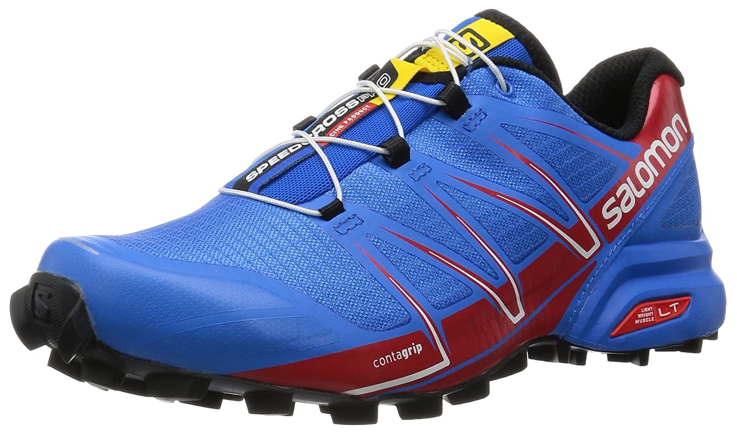 [サロモン] SALOMON トレイルランニングシューズ SPEEDCROSS PRO B00ZLMWS1G 12 F(M) UK / 12.5 D(M) US Bright Blue/Radiant Red/Black