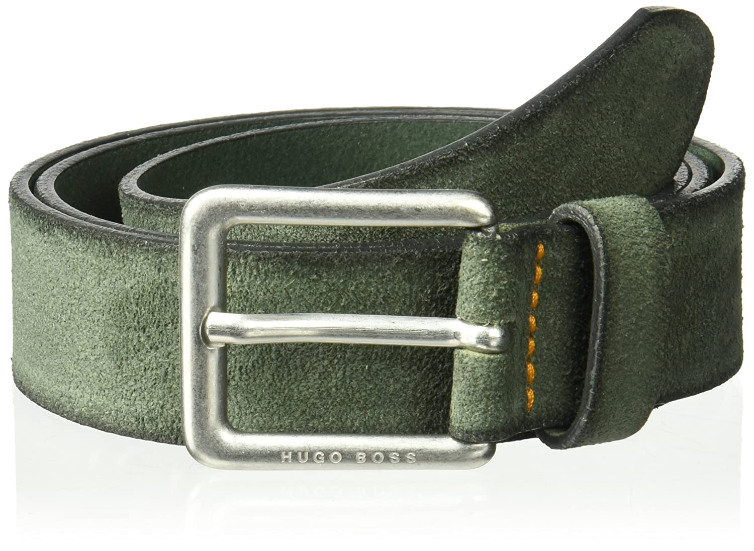 BOSS Orange Men's Jordin Soft Suede Leather Belt 50379586