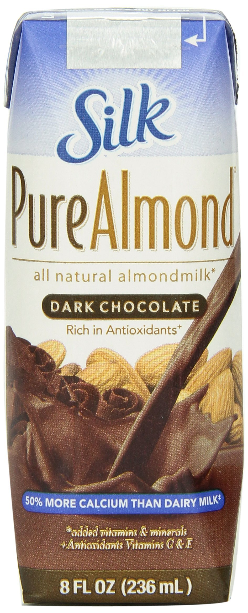 Silk Dark Chocolate Pure Almond Milk, 8-Ounce (Pack of 18) by Silk (Image #2)