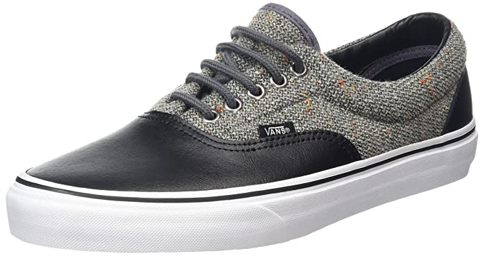 Vans Era Unisex-Erwachsene Low-Top Sneakers Schwarz Grau (Wool & Leather Excalibur/Black)