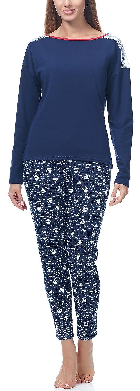 TALLA XL. Merry Style Pijama Conjunto Camiseta y Pantalones Mujer MS-MS10-142