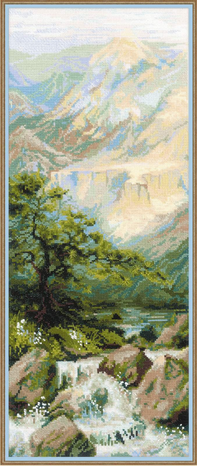 RIOLIS 1543 14 Count Mountain River Ii Counted Cross Stitch Kit, 8'' by 19.75'', Multicolor by RIOLIS