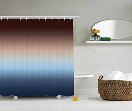 Ambesonne Ombre Shower Curtain Home Decorations Art Bathroom Decor, 70  Inches Long, Polyester Bathroom