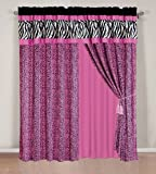 Amazon Com 7 Pieces Hot Pink Black And White Leopard