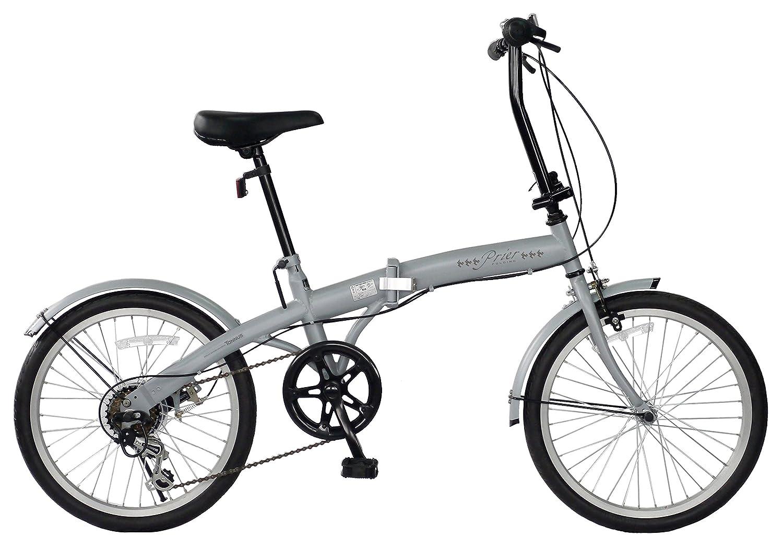 CHACLE(チャクル) Prier(プリエ) 軽くてパンクしない フォールディングバイク 20インチ 外装6段変速仕様 ノーパンクタイヤ 空気入れ不要 折り畳み自転車 FDR-CC206PR B079MQP3RK ストーングレー ストーングレー