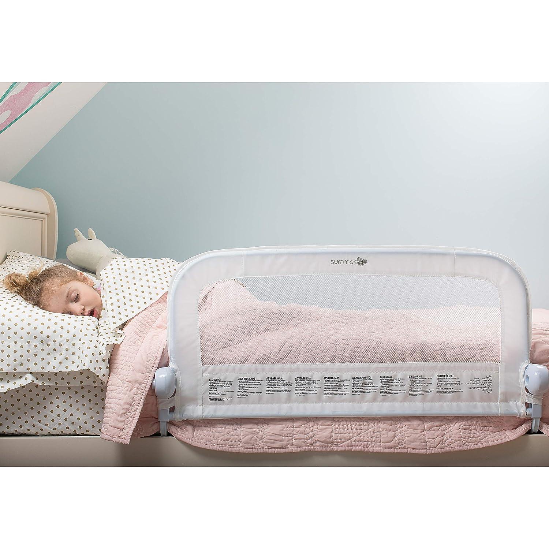 Barrera de seguridad para cama Summer Infant color blanco