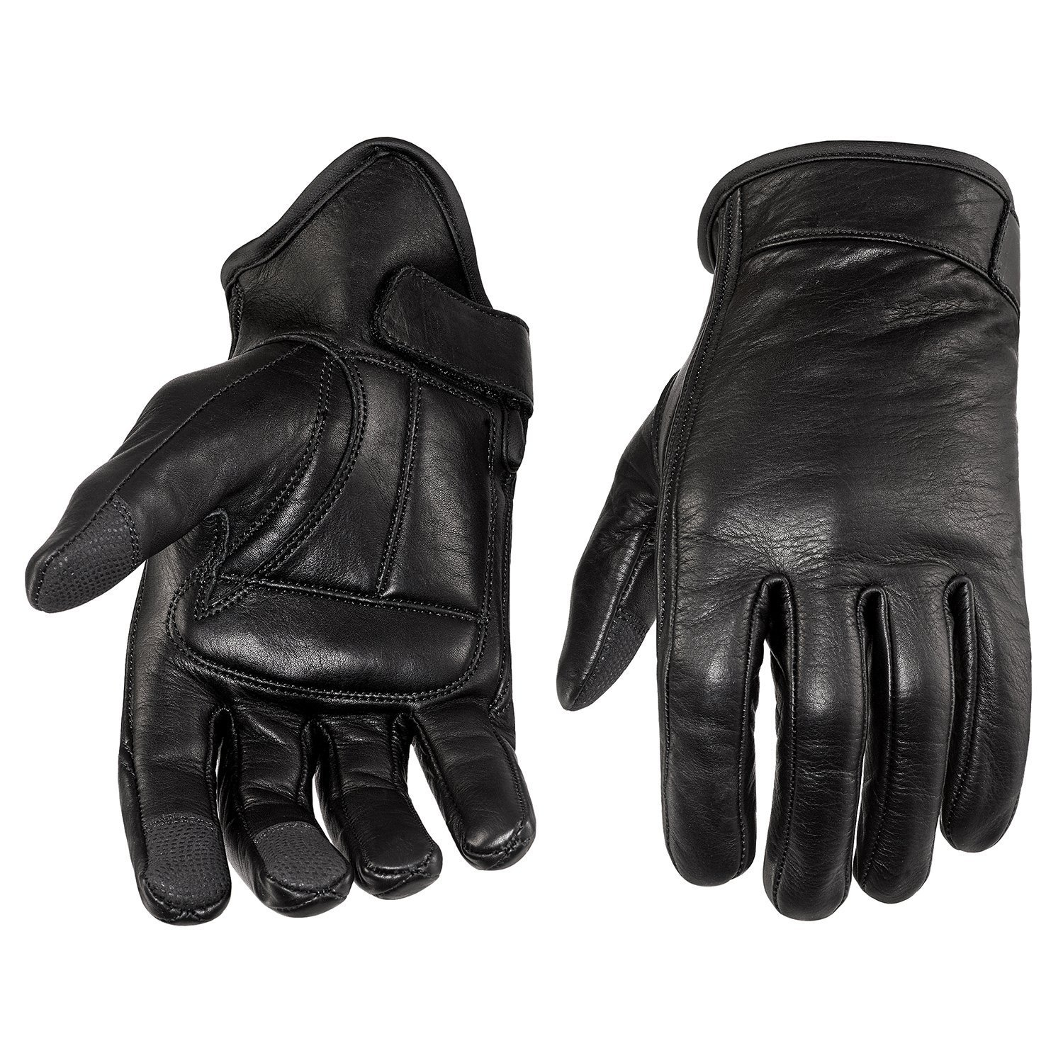 NEW PRODUCT Viking Cycle Men's Premium Leather Standard Motorcycle Cruiser Gloves (Large)
