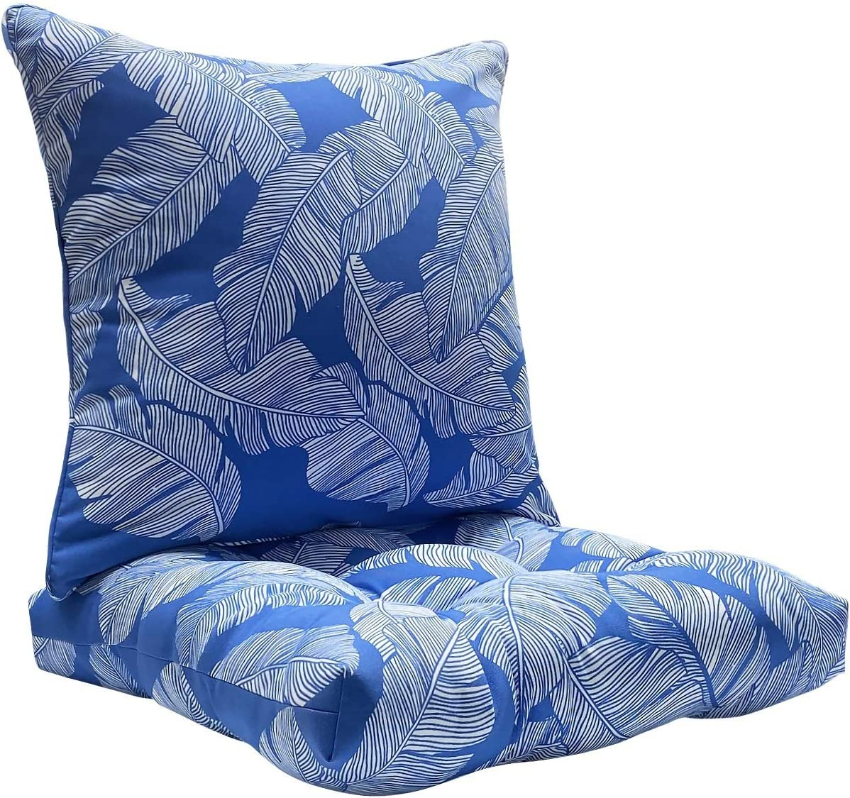 FBTS Prime Outdoor Chair Cushions and Outdoor Pillows Navy 19x19 Inch Patio Decorative Cushion Set for Outdoor Patio Indoor Furniture Garden Home Office
