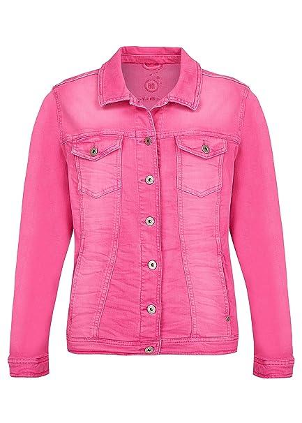 b31f11300b5a Via Appia Due Damen Moderne Jeans-Jacke mit figurformenden Nähten   Amazon.de  Bekleidung