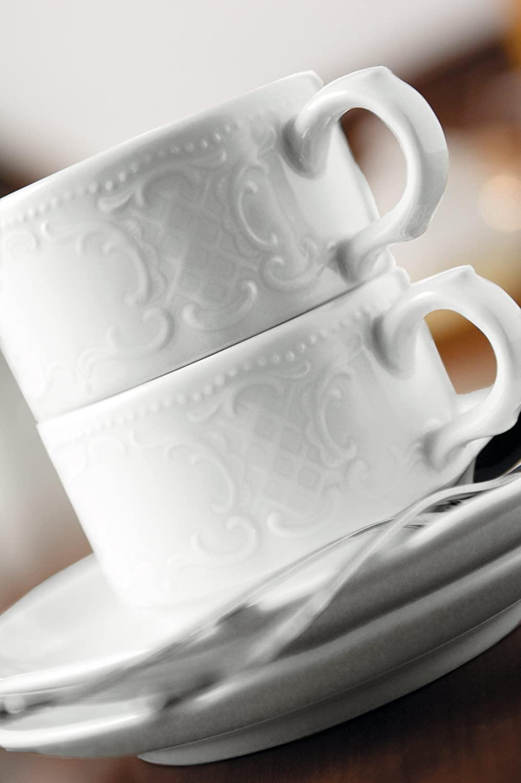 Untere zur Kaffeetasse 1 6 St/ück Salzburg weiss uni 00003 von Seltmann Weiden