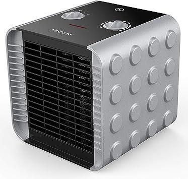 HeiPard Calefactor Portátil Eléctrico,PTC Elemento de Cerámica Ventilador Calefactor de Aire C...