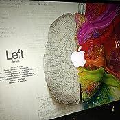 Material engomado de piel con etiqueta. Cerebro de hemisferios Dcho e Izdo 15.4 Pro con Retina macbook ordenadores etc Vinilo para tablets